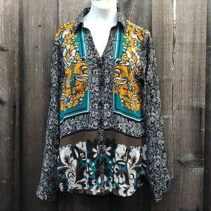 Express the portofino shirt slim fit tunic